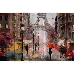 Картина на дереве Дом Корлеоне Парижские зонтики 80x120 см