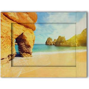 Картина с арт рамой Дом Корлеоне Песчаные скалы 80x100 см