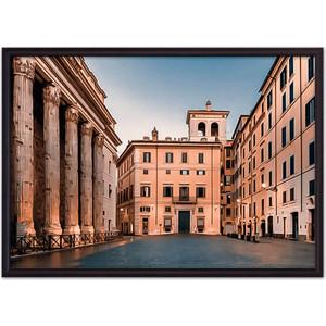 Постер в рамке Дом Корлеоне Площадь Пьяцца-ди-Пьетра 30x40 см фото