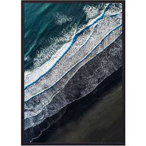 Постер в рамке Дом Корлеоне Пляж с высоты 30x40 см фото