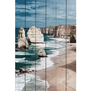 Картина на дереве Дом Корлеоне Побережье Австралии 100x150 см