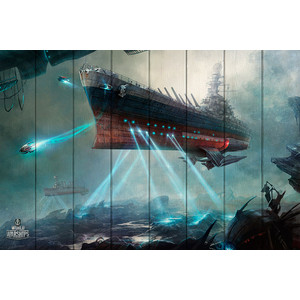 Картина на дереве Дом Корлеоне Подводный корабль 120x180 см фото