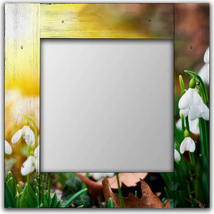 Настенное зеркало Дом Корлеоне Подснежники 75x140 см