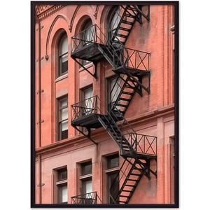 Постер в рамке Дом Корлеоне Пожарная лестница 21x30 см