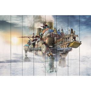 Картина на дереве Дом Корлеоне Покорение Арктики 100x150 см фото