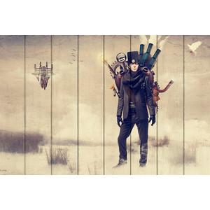 цена Картина на дереве Дом Корлеоне Пол Маккартни Стимпанк 100x150 см онлайн в 2017 году