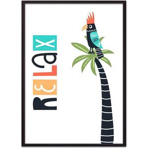 Постер в рамке Дом Корлеоне Попугай Relax 40x60 см