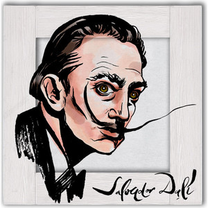Картина с арт рамой Дом Корлеоне Портрет Сальвадора Дали 45x45 см фото