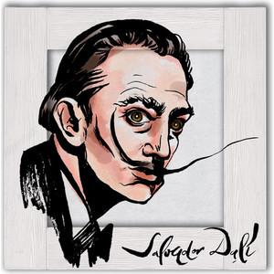 Картина с арт рамой Дом Корлеоне Портрет Сальвадора Дали 80x80 см фото