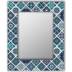Настенное зеркало Дом Корлеоне Португальская плитка 65x80 см