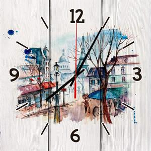 Настенные часы Дом Корлеоне Прогулка по Парижу 40x40 см