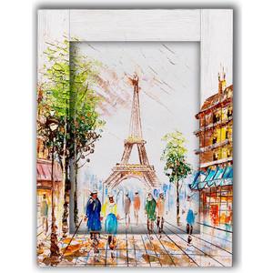 Картина с арт рамой Дом Корлеоне Прогулки по Парижу 80x100 см фото