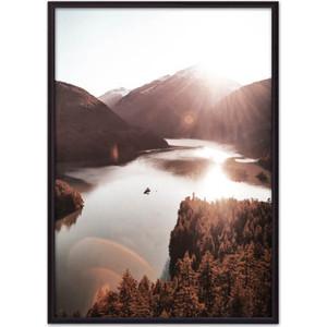 Постер в рамке Дом Корлеоне Рассвет в горах 21x30 см фото