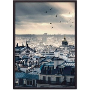 Постер в рамке Дом Корлеоне Рассвет Париже 40x60 см