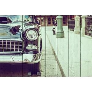 Картина на дереве Дом Корлеоне Ретро автомобиль 100x150 см