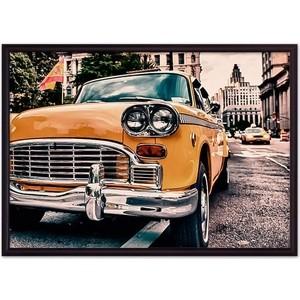 Постер в рамке Дом Корлеоне Ретро такси Нью-Йорк 40x60 см стоимость