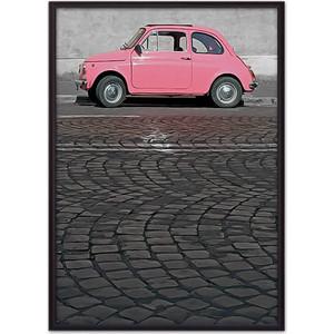 Постер в рамке Дом Корлеоне Розовый автомобиль 30x40 см