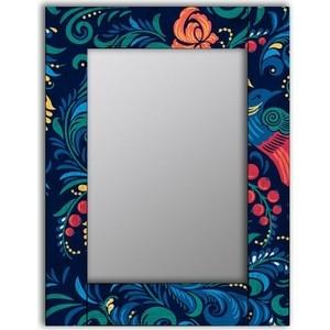 Настенное зеркало Дом Корлеоне Синяя Жар-птица 80x80 см фото