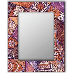 Настенное зеркало Дом Корлеоне Сиреневый калейдоскоп 90x90 см