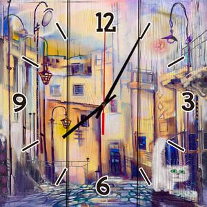 Настенные часы Дом Корлеоне Сказочный город 60x60 см