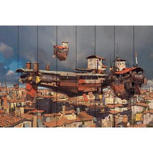 Картина на дереве Дом Корлеоне Скай Сити 100x150 см