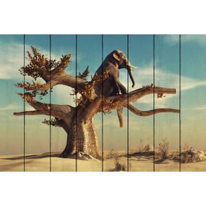 Картина на дереве Дом Корлеоне Слон на дереве 60x90 см