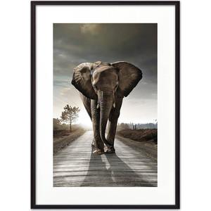 Постер в рамке Дом Корлеоне Слон на дороге 50x70 см