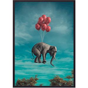 Постер в рамке Дом Корлеоне Слон с шариками 50x70 см