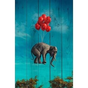 Картина на дереве Дом Корлеоне Слон с шариками 60x90 см