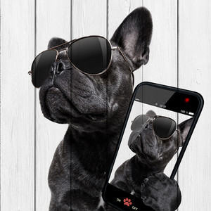 Картина на дереве Дом Корлеоне Собака с телефоном 150x150 см