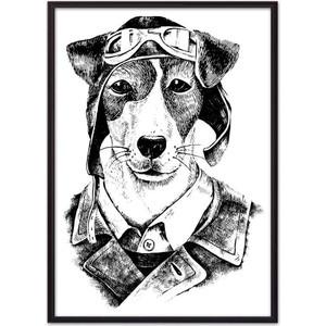Постер в рамке Дом Корлеоне Собака-авиатор 50x70 см