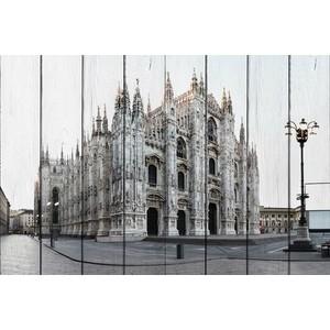 Картина на дереве Дом Корлеоне Собор Милан 60x90 см