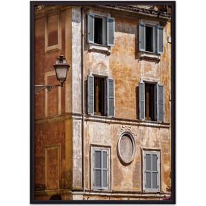 Постер в рамке Дом Корлеоне Старинная дверь Рим 50x70 см