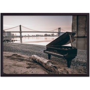 Постер в рамке Дом Корлеоне Старый рояль 40x60 см