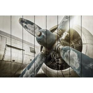 Картина на дереве Дом Корлеоне Старый самолет 80x120 см