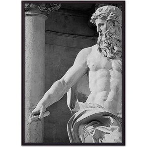 Постер в рамке Дом Корлеоне Статуя Нептуна 50x70 см
