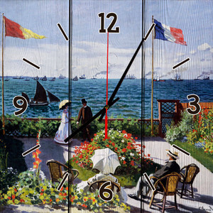 Настенные часы Дом Корлеоне Терраса в Сент-Адрессе 50x50 см