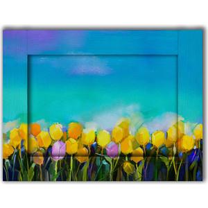 Картина с арт рамой Дом Корлеоне Тюльпаны 45x55 см картина бордовые тюльпаны трихтин модульная 2943431 125 х 73 см
