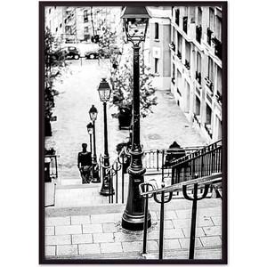Постер в рамке Дом Корлеоне Улочка Монмартр 50x70 см