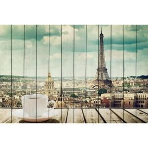 Картина на дереве Дом Корлеоне Утро в Париже 100x150 см фото