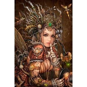 Картина на дереве Дом Корлеоне Фея Стимпанк 100x150 см