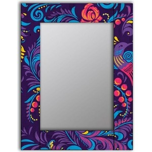 Настенное зеркало Дом Корлеоне Фиолетовая Жар-птица 55x55 см