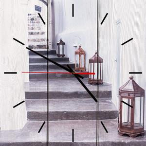 Настенные часы Дом Корлеоне Фонари 50x50 см