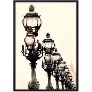Постер в рамке Дом Корлеоне Фонари Париж 40x60 см