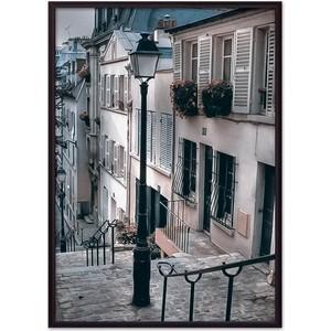 Постер в рамке Дом Корлеоне Фонарь Монмартр 50x70 см