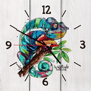 Настенные часы Дом Корлеоне Хамелеон 40x40 см