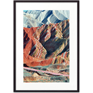 Постер в рамке Дом Корлеоне Цветные горы 21x30 см