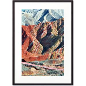 Постер в рамке Дом Корлеоне Цветные горы 40x60 см