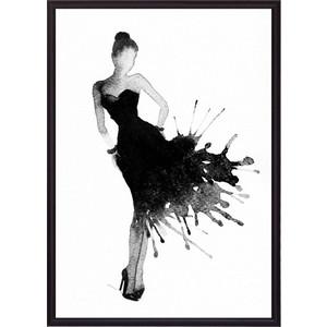 цена Постер в рамке Дом Корлеоне Черное платье Акварель 1 50x70 см онлайн в 2017 году