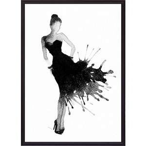 Постер в рамке Дом Корлеоне Черное платье Акварель 1 40x60 см